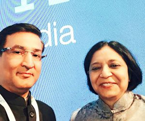 SIPS MD Major Satyapal Sindhu with IBM India MD Ms Vanitha Narayanan
